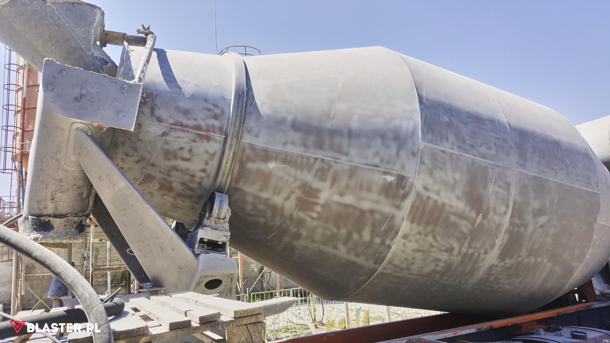 Piaskowanie betoniarki